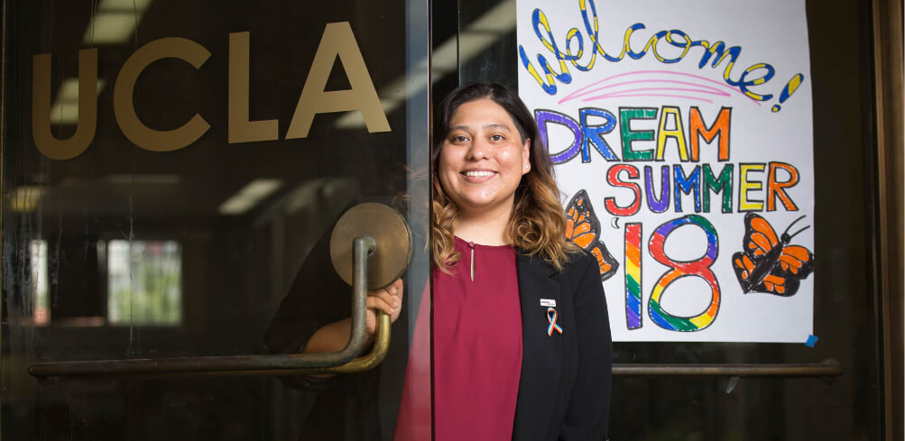 """My vision is an intersectional immigrant rights movement where folks are empowered and welcomed and ready to create change in their communities, in their schools and in the spaces that they belong. So we can all flourish."" Clara Mejia Orta, Dream Summer Alumna"