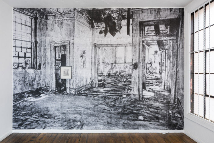 "Kang Seung Lee, ""Untitled (Leonard Fink_Pier 48 Interior_1980)"""