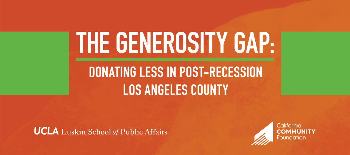 The Generosity Gap: Donating Less in Post-Recession Los Angeles County