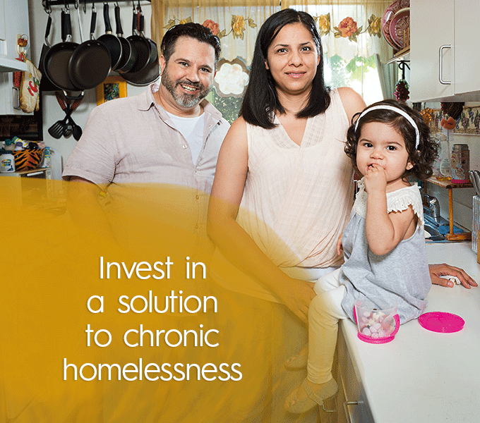 Invest in a solution to chronic homelessness